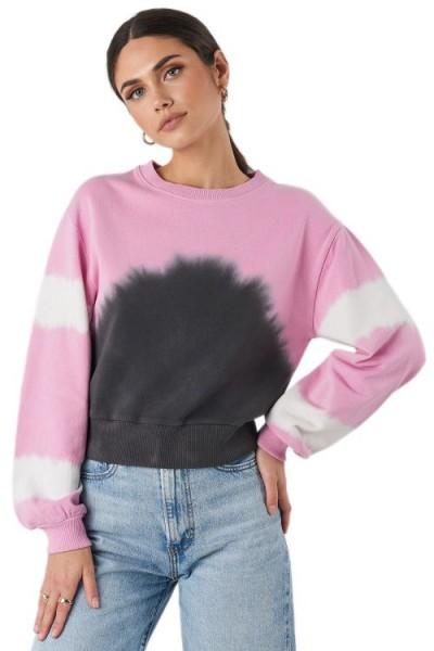 NA-KD Tie Dye Oversized Cropped Sweatshirt