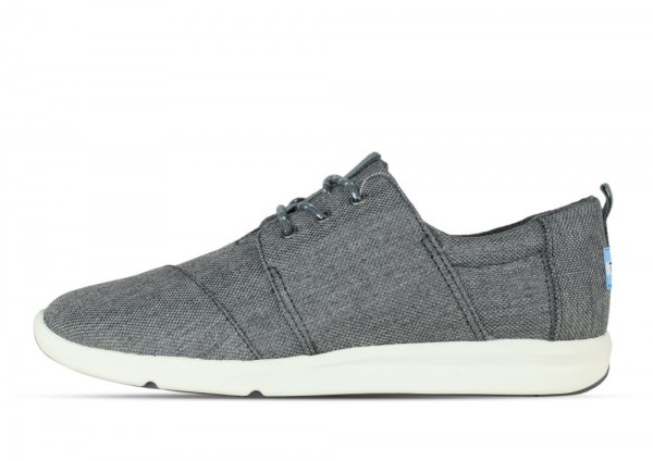 Toms Del Rey Steel Grey Poly Canvas