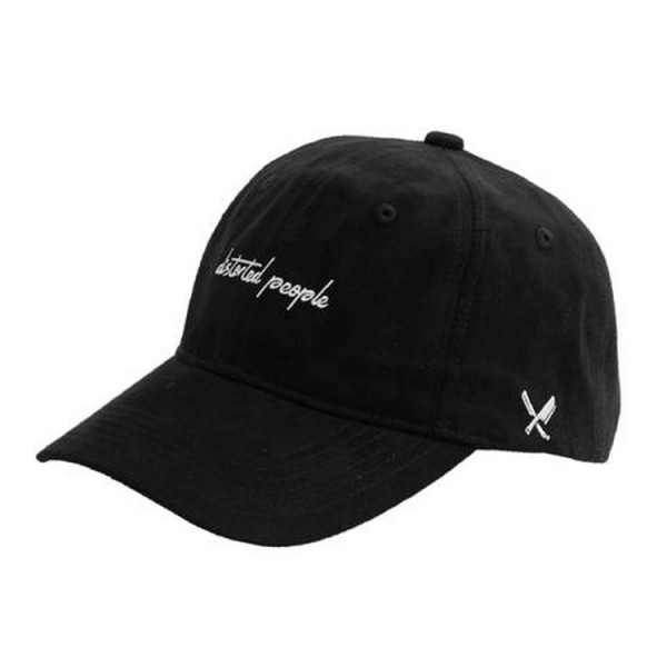 Distorted People Flat Dad Cap