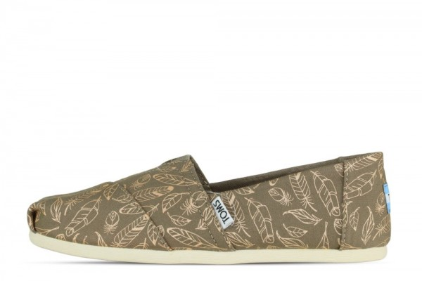 Toms Classic Desert Taupe Foil Feathers