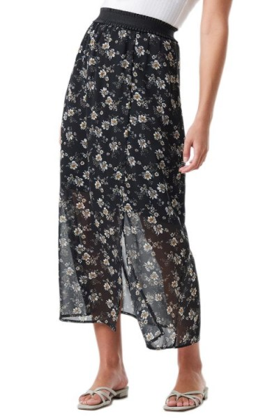 NA-KD Flower Printed Midi Skirt